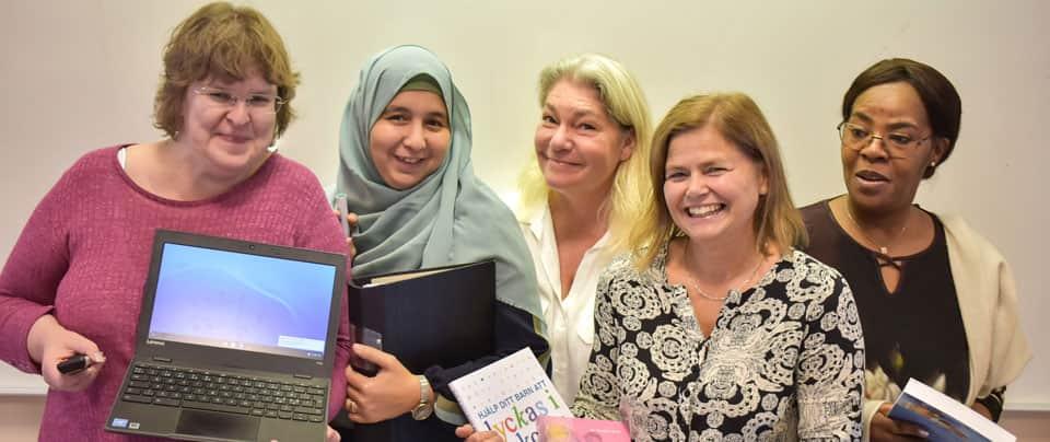 Fem kvinnor, deltagare på kursen Lärarassistent